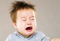 De schreeuwende Jongen van de Baby Stock Foto