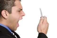 De schreeuwende Mens van de Telefoon Royalty-vrije Stock Foto's