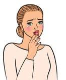 De schreeuwende mooie vrouw van de pop-artstijl royalty-vrije illustratie