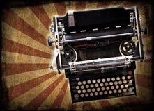 De schrijfmachine van Grunge Stock Afbeeldingen