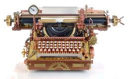 De Schrijfmachine van Steampunk. Stock Afbeeldingen