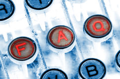 De schrijfmachinesleutels van Faq Stock Fotografie