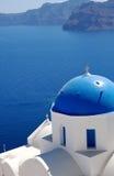De Schrijver uit de klassieke oudheid van Santorini Stock Afbeeldingen