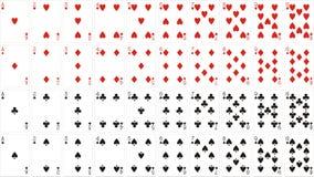 De schrijver uit de klassieke oudheid van speelkaarten Royalty-vrije Stock Afbeelding