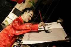 De schrijver van de marionet? Royalty-vrije Stock Foto