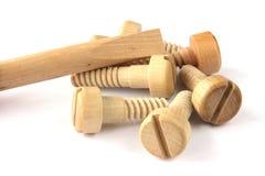 De schroef-bouten van het stuk speelgoed met schroevedraaier Royalty-vrije Stock Afbeelding