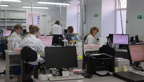 De Schroef van de laboratoriumdiensten royalty-vrije stock fotografie