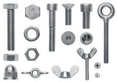 De schroefinzameling van de hardware Royalty-vrije Stock Fotografie