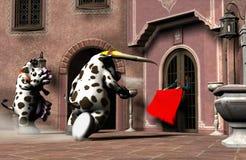 De schuchtere Stierenvechter Vector Illustratie