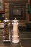De schudbeker van het zout en van de peper royalty-vrije stock afbeelding