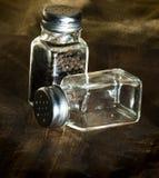 De schudbekers van het zout en van de peper Stock Fotografie