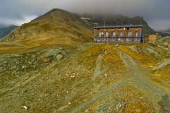 De Schuilplaats van de Berg van Glossglockner stock fotografie