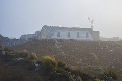 De schuilplaats van de Chimborazovulkaan Stock Foto