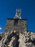 De schuilplaats van de steen bij de top Stock Foto's