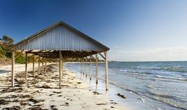 De Schuilplaats van het strand Stock Afbeeldingen