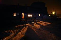 De Schuilplaats van Omu bij Nacht Stock Foto