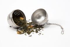 De schuimspaan van de thee stock afbeeldingen