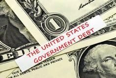 De schuld van Verenigde Staten Royalty-vrije Stock Afbeelding