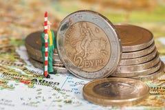 De schuldcrisis van Griekenland Stock Foto