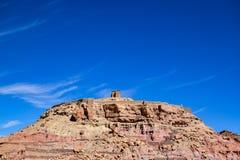 De schuur bij de bovenkant van de heuvel Stock Foto's