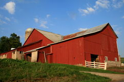 De Schuur van Amish Stock Afbeeldingen
