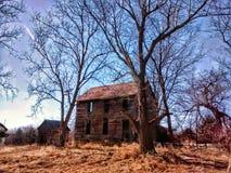 De schuur van het land in Atchison Kansas Stock Foto
