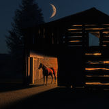 De Schuur van het paard Stock Afbeeldingen