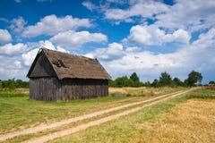 De schuur van het plattelandshuisje Royalty-vrije Stock Afbeeldingen