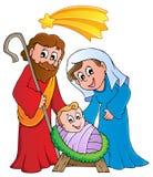 De scène van de Geboorte van Christus van Kerstmis Royalty-vrije Stock Foto's