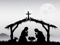 De scène van de geboorte van Christus, vector Stock Foto's