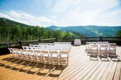 De Scène van de huwelijksceremonie Stock Foto's