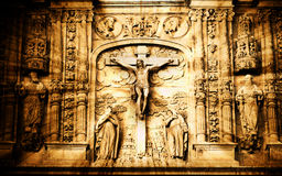 De scène van de kruisiging Royalty-vrije Stock Afbeelding