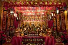 De scène van de nacht van een grote taoist tempel Royalty-vrije Stock Foto
