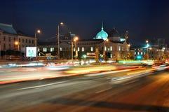 De nachtscène 10 van Boekarest Stock Afbeeldingen