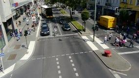 De scène van de stadsstraat in Berlijn stock video