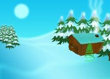 De scène van de winter Royalty-vrije Stock Afbeeldingen