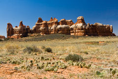 De Scène van het Landschap van de woestijn Royalty-vrije Stock Foto