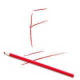 De score F van de schooltest vector illustratie
