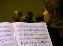 De score van de muziek Stock Fotografie