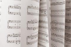 De Score van de muziek stock foto