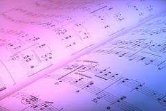 De score van de muziek Stock Afbeelding
