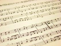 De Score van de muziek Stock Afbeeldingen