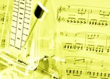 De score van de muziek, metronoom royalty-vrije stock fotografie
