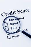 De Score van het krediet Stock Foto's