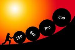 De score van het krediet Stock Fotografie