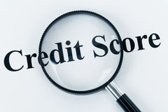 De Score van het krediet Royalty-vrije Stock Afbeeldingen