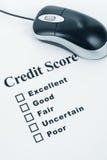 De Score van het krediet royalty-vrije stock foto's