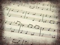 De scoreachtergrond van de muziek Royalty-vrije Stock Foto's