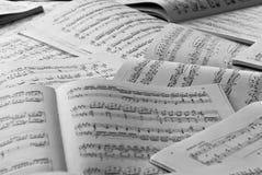De scores van de muziek Stock Afbeelding