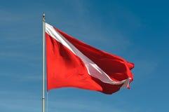 De scuba-uitrusting duikt Vlag royalty-vrije stock afbeeldingen
